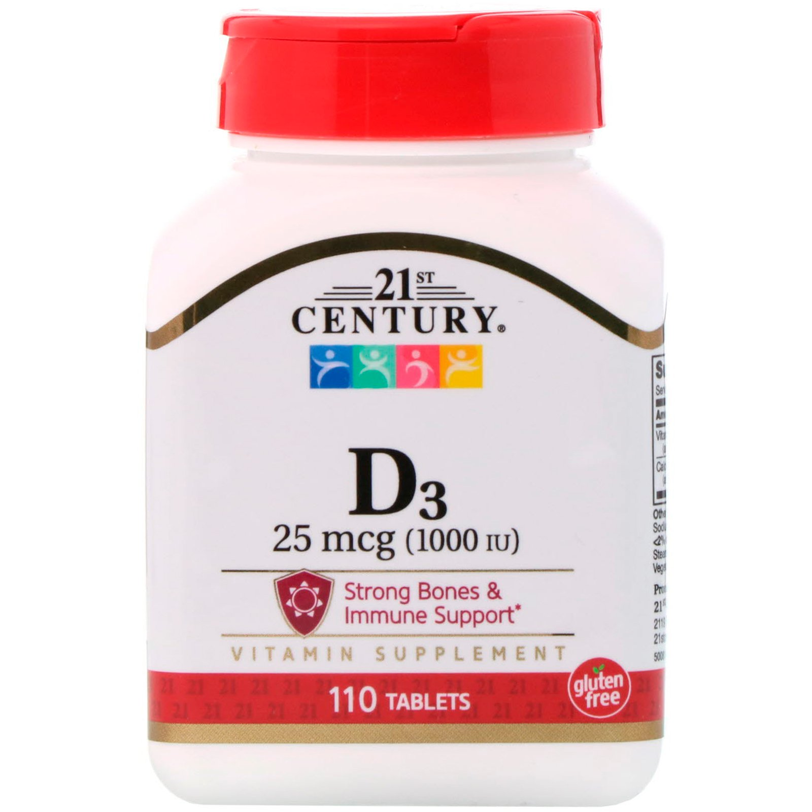 21st Century D3 25 Mcg 1000 Iu 110 Tablets Byclue