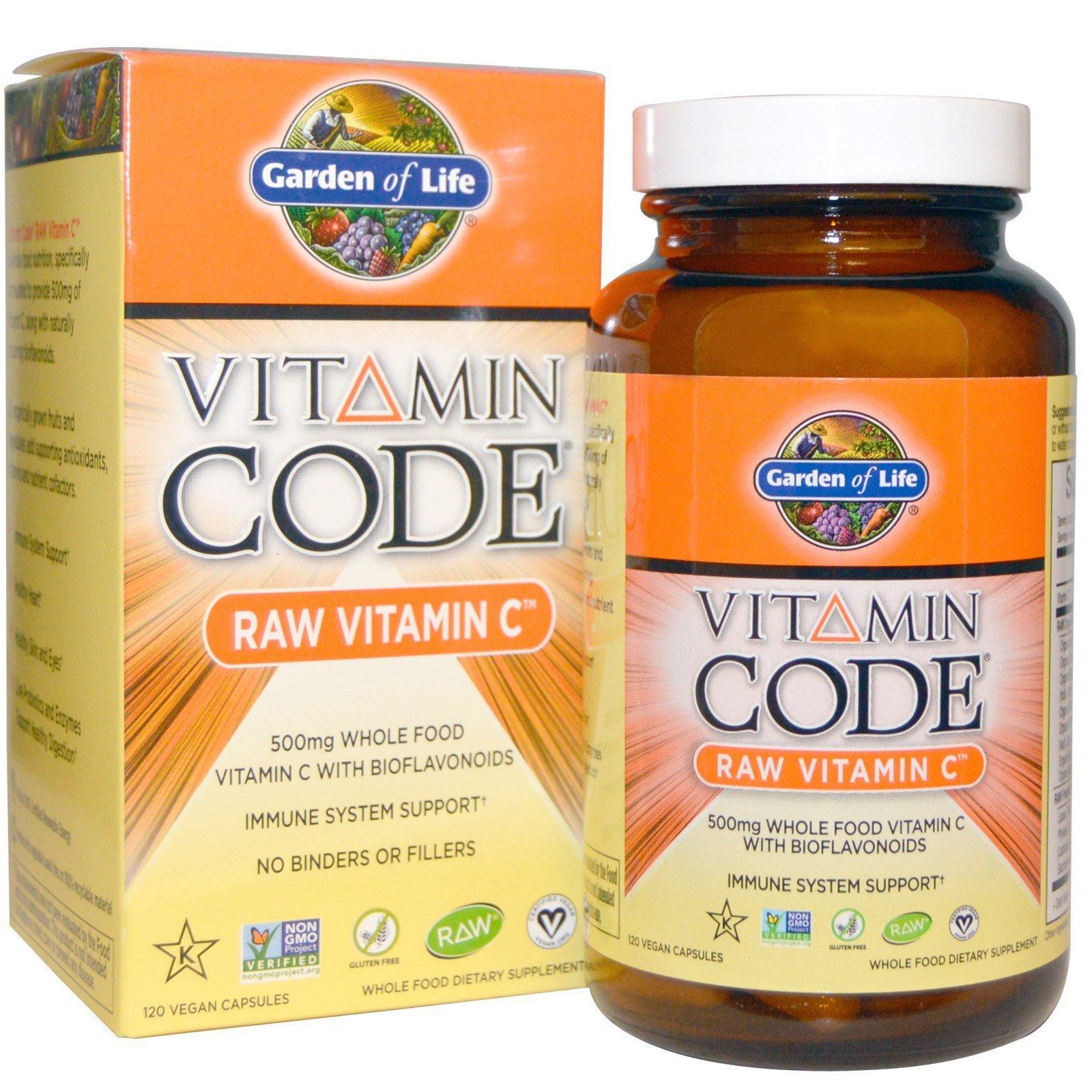 Garden Of Life Vitamin Code Raw Vitamin C 120 Vegan Capsules By Iherb