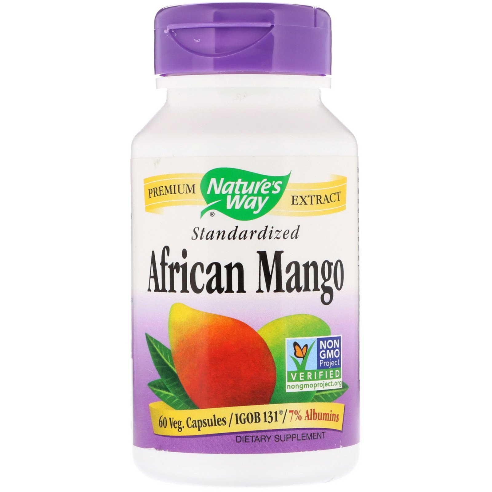 Nature S Way African Mango Standardized 60 Veg Capsules By