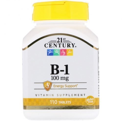 21st Century, B-1, 100 mg, 110 Tablets