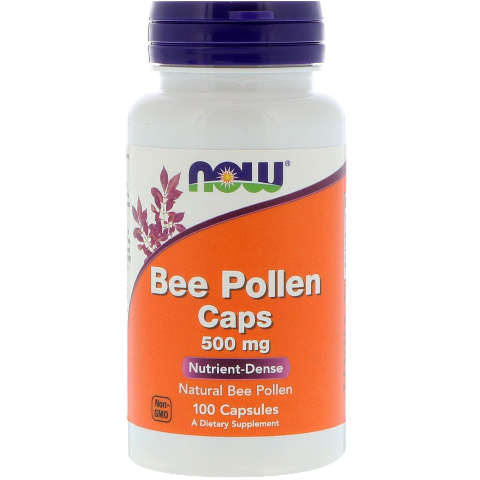 Now Foods, Bee Pollen Caps, 500 mg, 100 Capsules | Byclue
